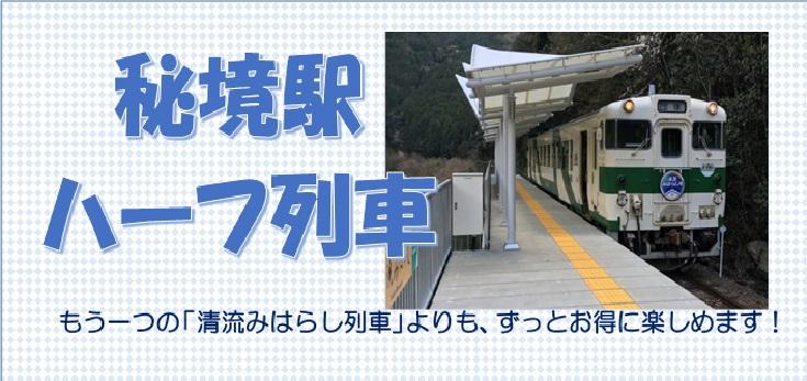 秘境駅ハーフ列車