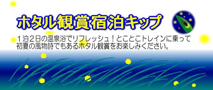 ホタル観賞宿泊きっぷ